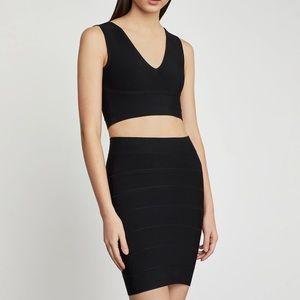 BCBGMAXAZRIA Simone Textured Power Skirt XS (NWOT)